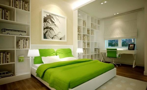 habitacion moderna verde